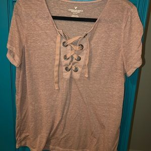 AE Lace Up Tee